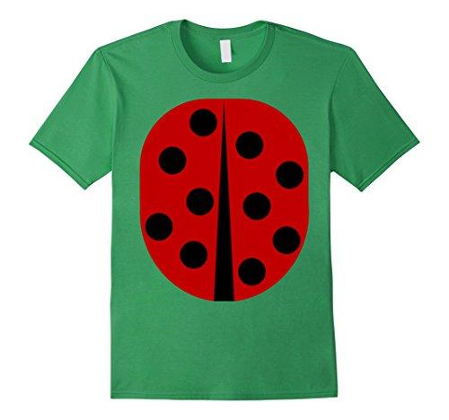 Men's Easy Costume Ideas (Mens Lady Bug - Easy Halloween Costume Idea - Tee Shirt Large Grass)