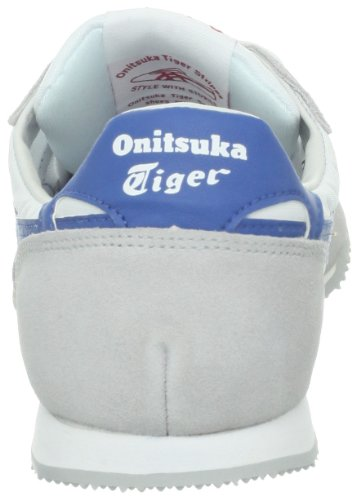 Onitsuka Tiger Mens Serrano Lace-up Fashion Sneaker Bianco / Blu