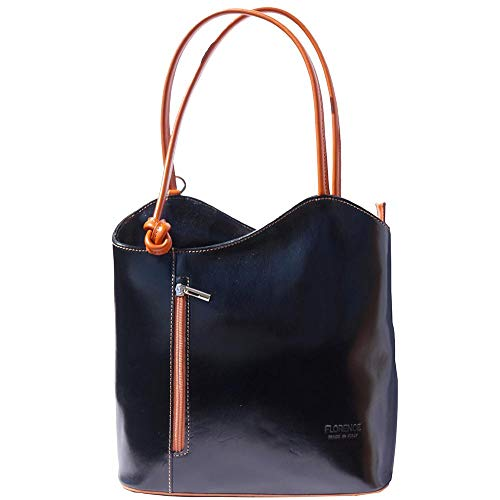(Convertible Purses and Handbags Shoulder-Backpack for Women Top Handle Genuine Soft Italian Leather handbags-Cloe)