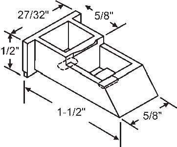 Top Sash Guide for Window Channel Balances by TechnologyLK