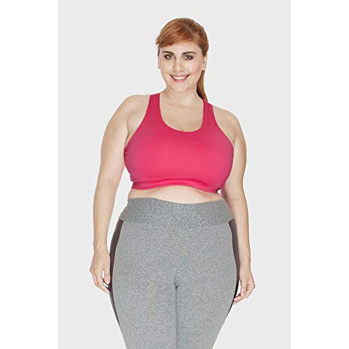 Top Fitness Liso Plus Size Pink-48