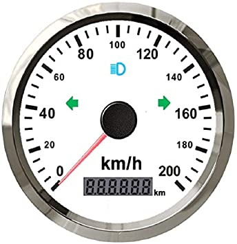 Eling Gps Tacho Set Kilometerzähler 0 200 Km H Kilometerstand Verstellbar 85 Mm Mit Hintergrundbeleuchtung Auto