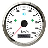 ELING Auto Motorcycle GPS Speedometer Kit Odometer 0-200km/h Odometer Adjustable 85MM with Back Light