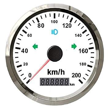 Velocímetro GPS universal de 0 a 200 km/h para coche, motocicleta, ATV, UTV, kilometraje total ajustable de 9 a 32 V con retroiluminación: Amazon.es: Coche ...