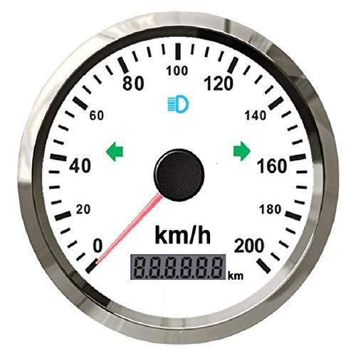 Velocí metro GPS universal de 0 a 200 km/h para coche, motocicleta, ATV, UTV, kilometraje total ajustable de 9 a 32 V con retroiluminació n kilometraje total ajustable de 9 a 32 V con retroiluminación ELING