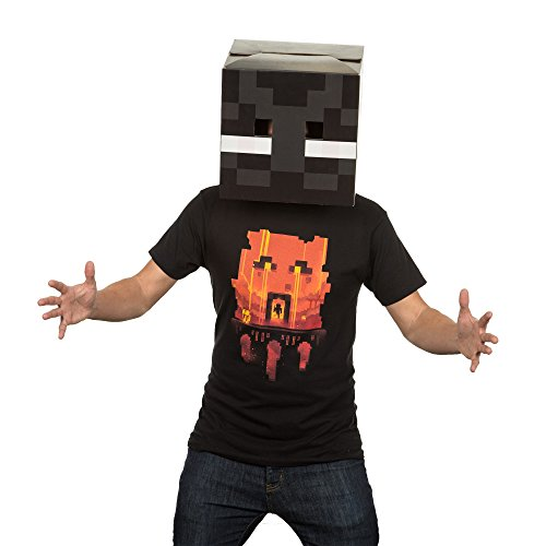 how to make a enderman head in minecraft
