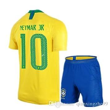 124fa725ca177 maillot Neymar Brésil Coupe Monde 2018 T 8/9 Ans 130 CM Environ Superbe  Ensemble