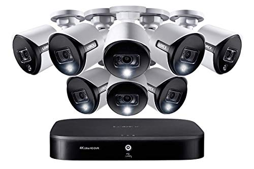 Lorex Weatherproof Indoor/Outdoor Home Wired Surveillance Security System, 4K Ultra HD Cameras w/Night Vision, Advanced Motion Detection & Smart Home Voice Control (8 Pack) -Incl. 2TB 8 Channel HD DVR