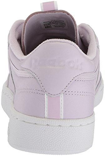 online store ff87f a875d ... Reebok Menns Klubb C 85 Rt Sneaker Kvarts   Hvit   Lilla Tåke ...