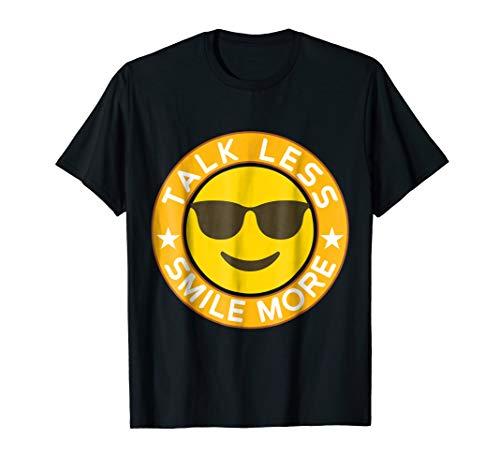Talk Less Smile More Hamilton Yellow Emoji Smile T Shirt