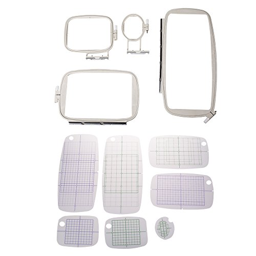 aokur 4 Pcs Sewing Parts Embroidery Hoop Frame set for br...