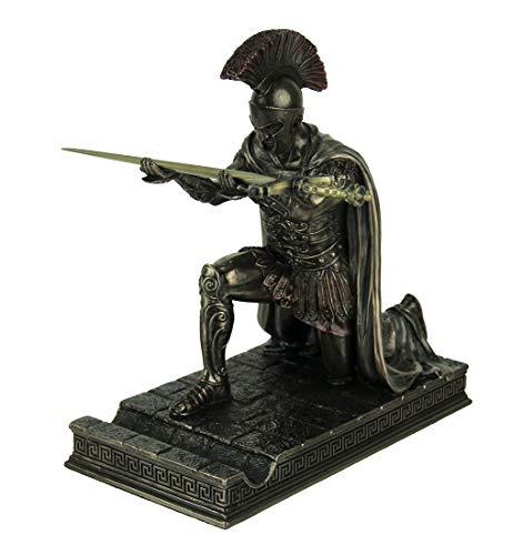 - Resin Letter Openers Roman Commander Kneeling Letter Opener/Pen Holder Bronze Finish Statue 6.5 X 7 X 3.5 Inches Bronze