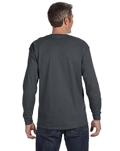 Jerzees mens 5.6 oz. 50/50 Heavyweight Blend Long-Sleeve T-Shirt(29L)-CHARCOAL GREY-XL ()