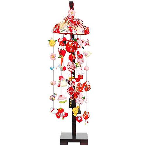 吊るし飾り 正絹吊るし飾り 中 スタンド付き sb-3-6m 飾り台セット   B075KWTL1Y