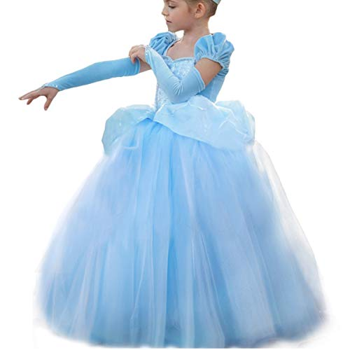 Cinderella Costumes for Girls Princess Dress Up Fancy Halloween Christmas Party]()