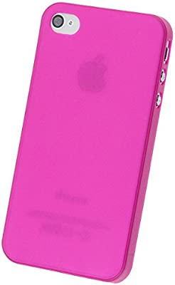 doupi UltraSlim Funda para iPhone 4 4S, Finamente Estera Ligero Estuche Protección, rosa