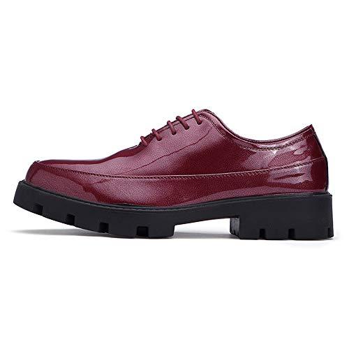 Business Stringate leggero poliuretano 42 Xujw 2018 da Dimensione ginnastica Basse da shoes EU casual uomo in traspirante Oxford vernice Comode Blu Scarpe Fashion Color in e Rosso scarpe 4CtqwXTt