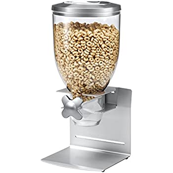 Zevro KCH-06153 Indispensable Professional Dry Food Dispenser, Single Control, Stainless Steel, Silver