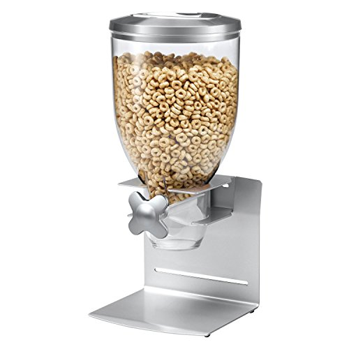 Zevro KCH-06153 Indispensable Professional Dry Food Dispenser, Single Control, Stainless Steel, Silver ()
