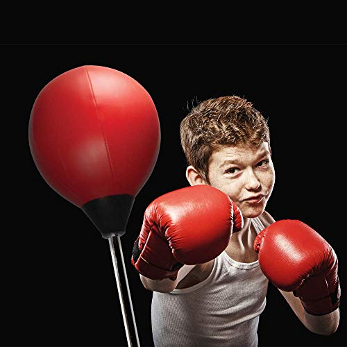 Protocol All-in-One Boxing Set | Punching Ball with Adjustable Height Stand That Withstands Tough Beatings| Includes Jump Rope, Comfortable Boxing Gloves, and Inflation Pump | Great Value by Protocol (Image #7)
