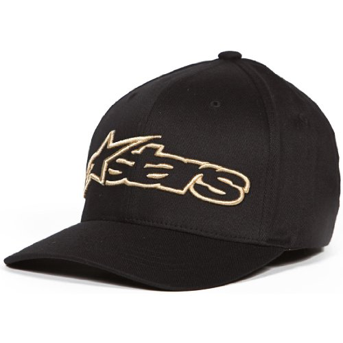 ALPINESTARS Men's Blaze Flexfit Hat, Black/Gold, Large/X-Large