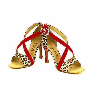 de Salsa Jaune Personnalisables Latine Red Noir Personnalisé Chaussures Talon Rouge danse Daim ZqHwda4