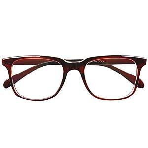 Bi Tao Transition Lens Photochromic Brown Reading Glasses 2.75 Strengths Men Women fashion Reading Eyeglasses
