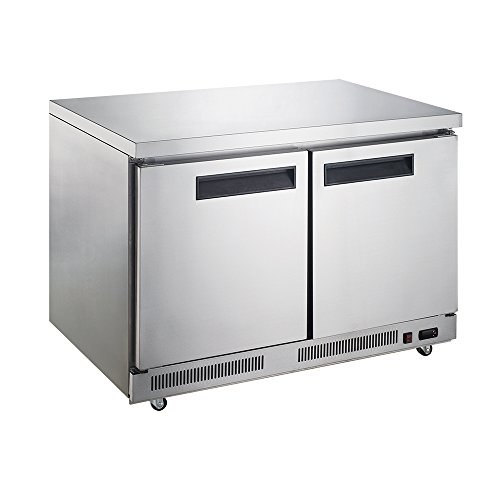 Dukers Appliance USA DUK600162378018 Dukers Commercial Undercounter Table Refrigerator, 2 Door, 57