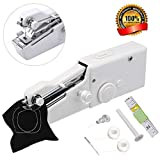 Portable Sewing Machine,Mini Handheld Sewing Machine MSDADA Electric Stitch Household Tool with Measuring Tape for Fabric, Clothing, Kids Cloth, Home Travel Use,Great for Children's Day Gift