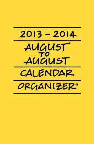 UPC 695245000764, 2013 - 2014 August-to-August Calendar/Organizer (Daffodil)