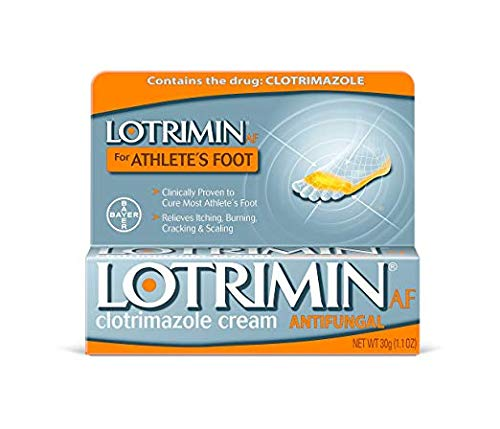 Lotrimin AF for Athlete's Foot Antifungal Clotrimazole Cream 1.1 Ounce Box (6 Pack)