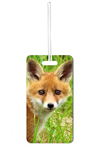 Fox Cub Lea Elliot Set of 8 Luggage Tags with Customizable Back