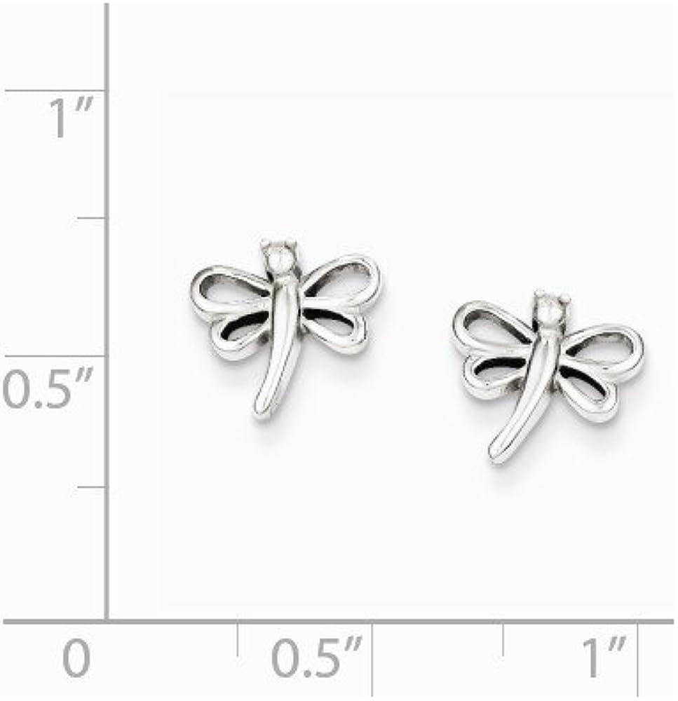 925 Sterling Silver Dragonfly Post Earrings