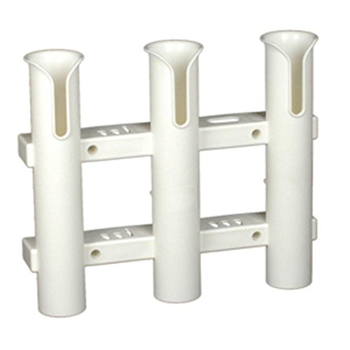 Three Rod Tournament Rack - C.E. Smith Tournament 3 Rod Rack - White consumer electronics Electronics
