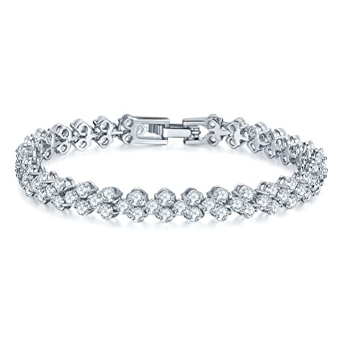 """Mrsrui Shining Crystal Link Hand Chain Bracelet """"A Little Lucky"""" Graduation Gifts for Her (B) by Mrsrui"""