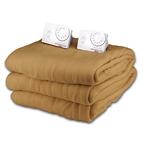 Find Discount Soft Microplush Queen Size Electric Heated Blanket by Biddeford (Goldenrod)
