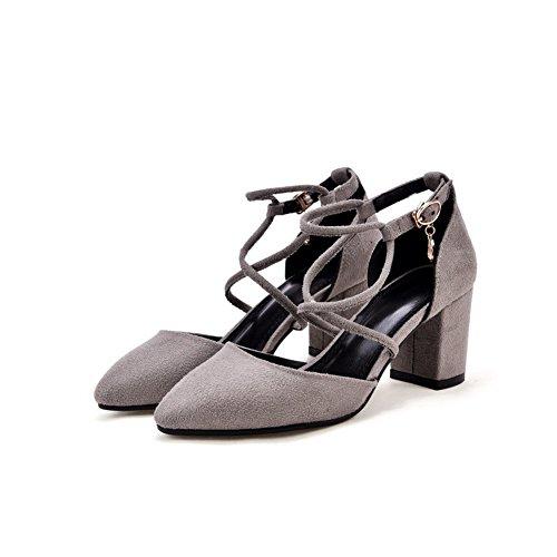 EU Gris AdeeSu 36 Gris 5 Sandales Compensées Femme 0wCtWAwq