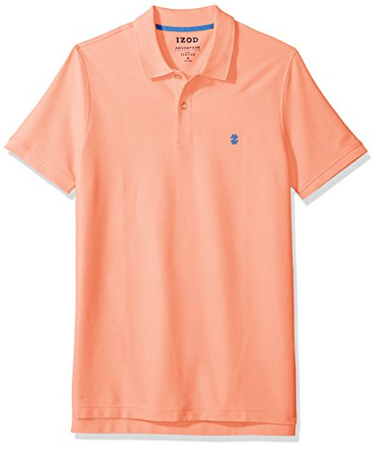 Price comparison product image IZOD Men's Advantage Performance Solid Polo (Regular and Slim Fit),  Papaya Punch,  X-Large