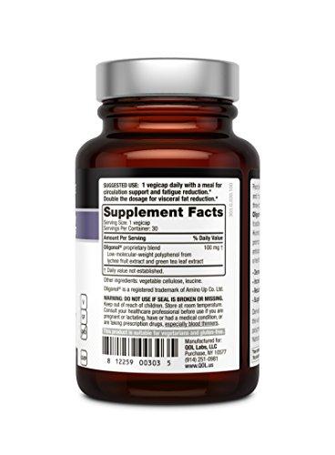418%2B5zsLi2L - Quality of Life Oligonol Premium Anti Aging Supplement-Supports Cardiovascular Health Youthful Skin, Circulation, Weight Loss, 30 Vegicaps (100mg)