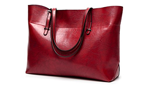 Leather Bag Sie Red Wine