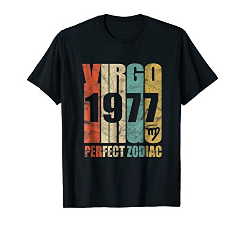 - Retro Virgo 1977 T-Shirt 41 yrs old Bday 41st Birthday Shirt