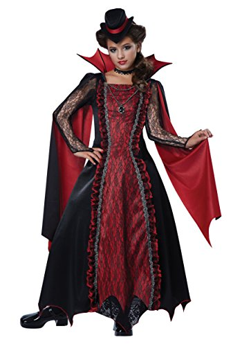 California Costumes Victorian Vampira Child Costume, Medium