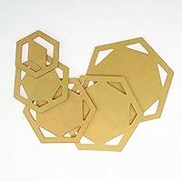 Healifty quilten Plantillas Plantillas Hex/ágonos Patchwork Handmade DIY Costura Herramientas Set 5/Unidades Golden