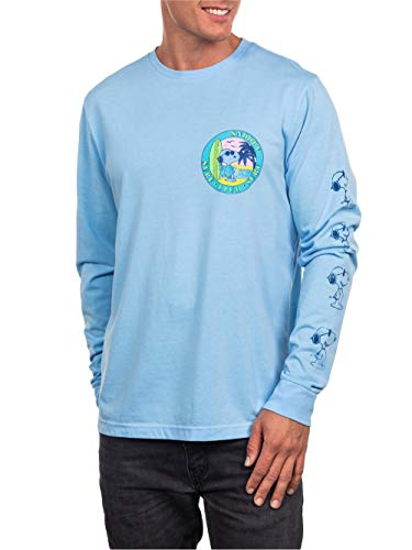 Peanuts Snoopy Men's Long Sleeve Surf Club Graphic Tee T-Shirt (Large (42/44)) -