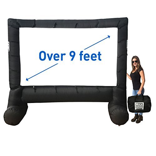 MEGA SCREEN MOVIE SCREEN – INFLATABLE PROJECTION SCREEN- PORTABLE HUGE OUTDOOR SCREEN - Over 9' DIAGONAL