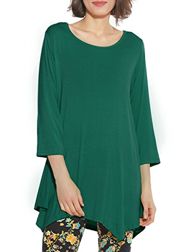BELAROI Women 3/4 Sleeve Swing Tunic Tops Plus Size T Shirt (3X,...