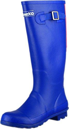 Cotswold Women Highgrove Buckle-Up Rubber Wellington Wellies Boot Snow Footwear Blue yj9ew