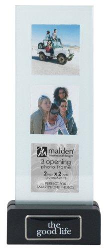 Frame Floater Collage (Malden International Designs Wood Vertical Floater The Good Life Picture Frame, 3 Option, 3-2x2, Black)