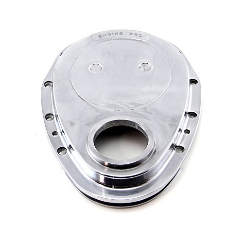 (Procomp Electronics PCE265.1010 Chevy SBC 350 Aluminum Timing Chain Cover Polished (Ep Logo) 1-Piece)