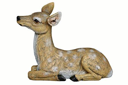CYA Decor Fawn Statue, Deer Sculpture Lying Outdoor Garden
